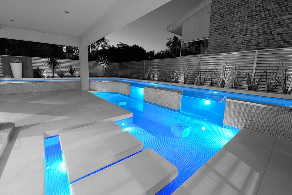 Award winning concrete swimming pool spa builders for Domestic swimming pool design