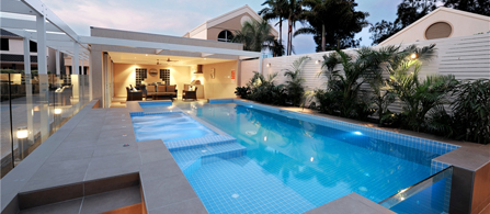 Award winning concrete swimming pool spa builders for Pool design hours
