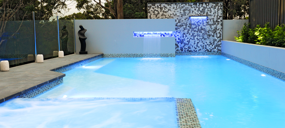 Award winning concrete swimming pool spa builders for Concrete inground pools