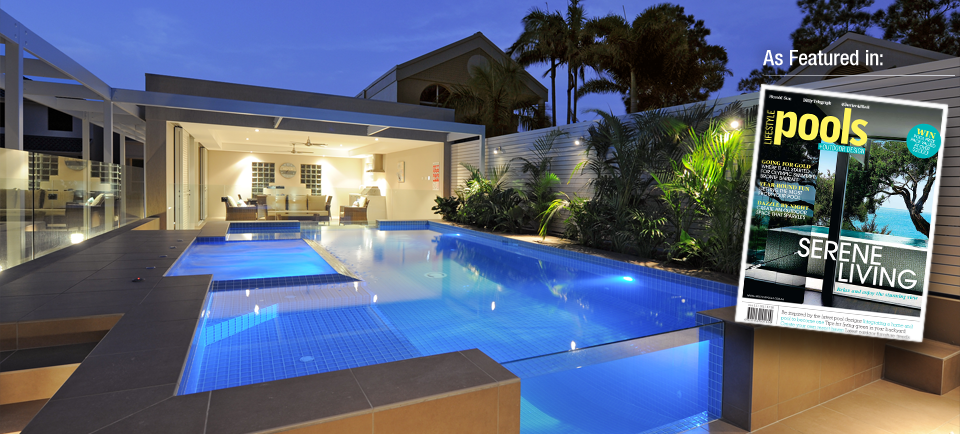 Award winning concrete swimming pool spa builders for Pool design classes